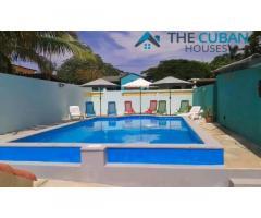 Linda casa en la playa de Boca Ciega con piscina, Jardín, garaje y ¾. Contacte