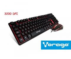 TECLADO Y MOUSE GAMING VORAGO KM-500 Multicolor 3200dpi New Tlf:72031498 William