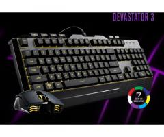 TECLADO Y MOUSE GAMING Cooler Master DEVASTATOR 3 New Tlf:72031498 Williams!!!