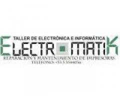 Taller Electromatik. Servicio de reparacion y mantenimiento de impresoras.