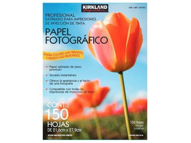 !! Papel fotográfico Kirkland 150 hojas tamaño carta-- tel. 53152207